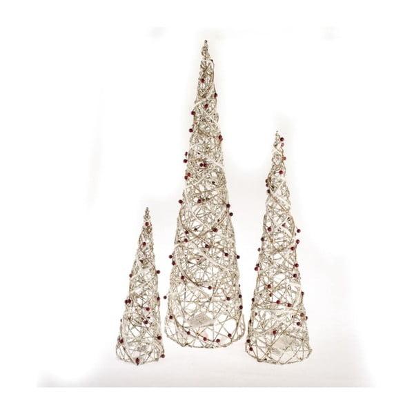 Dekorativní stromky s 60 led světýlky Dakls