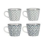 Sada 4 porcelánových hrnků Old Floor Cups