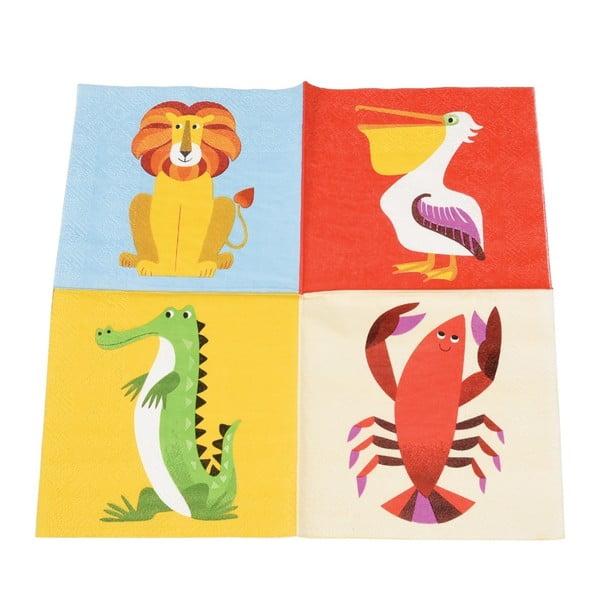 Sada 20 ubrousků Rex London Colourful Creatures