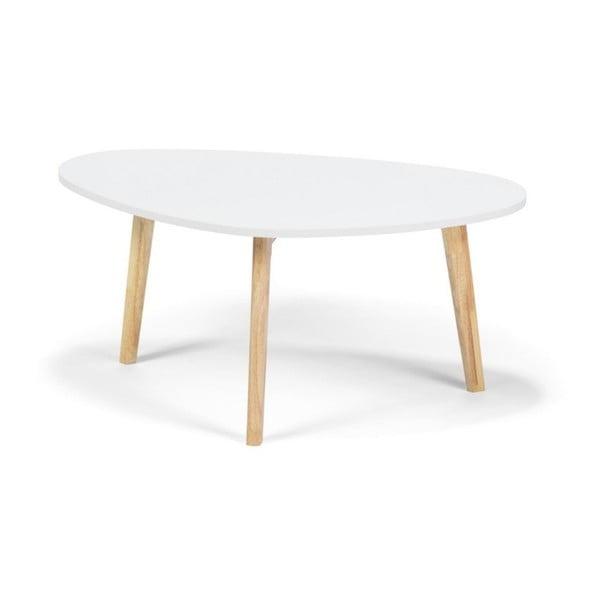 Bílý konferenční stolek loomi.design Skandinavian, délka84,5cm