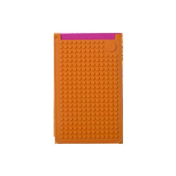 Univerzální velký obal na telefon PixelArt, fuchsia/orange