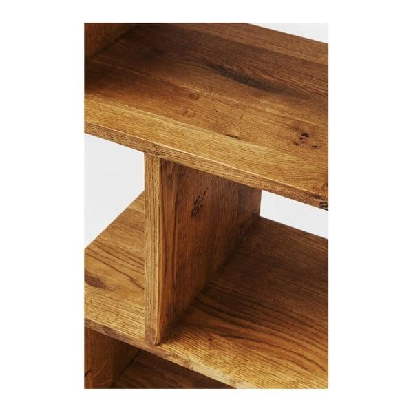 Knihovna z masivního bukového dřeva Kare Design Attento Zick Zack