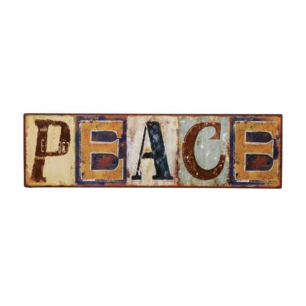 Cedule Peace, 43x12 cm