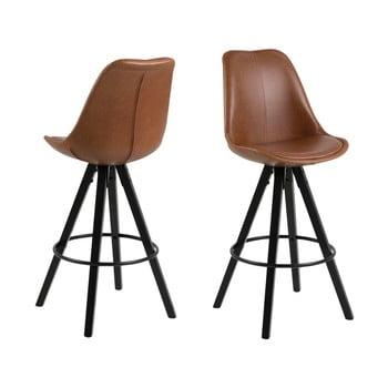 Set 2 scaune de bar Actona Damia, maro de la Actona
