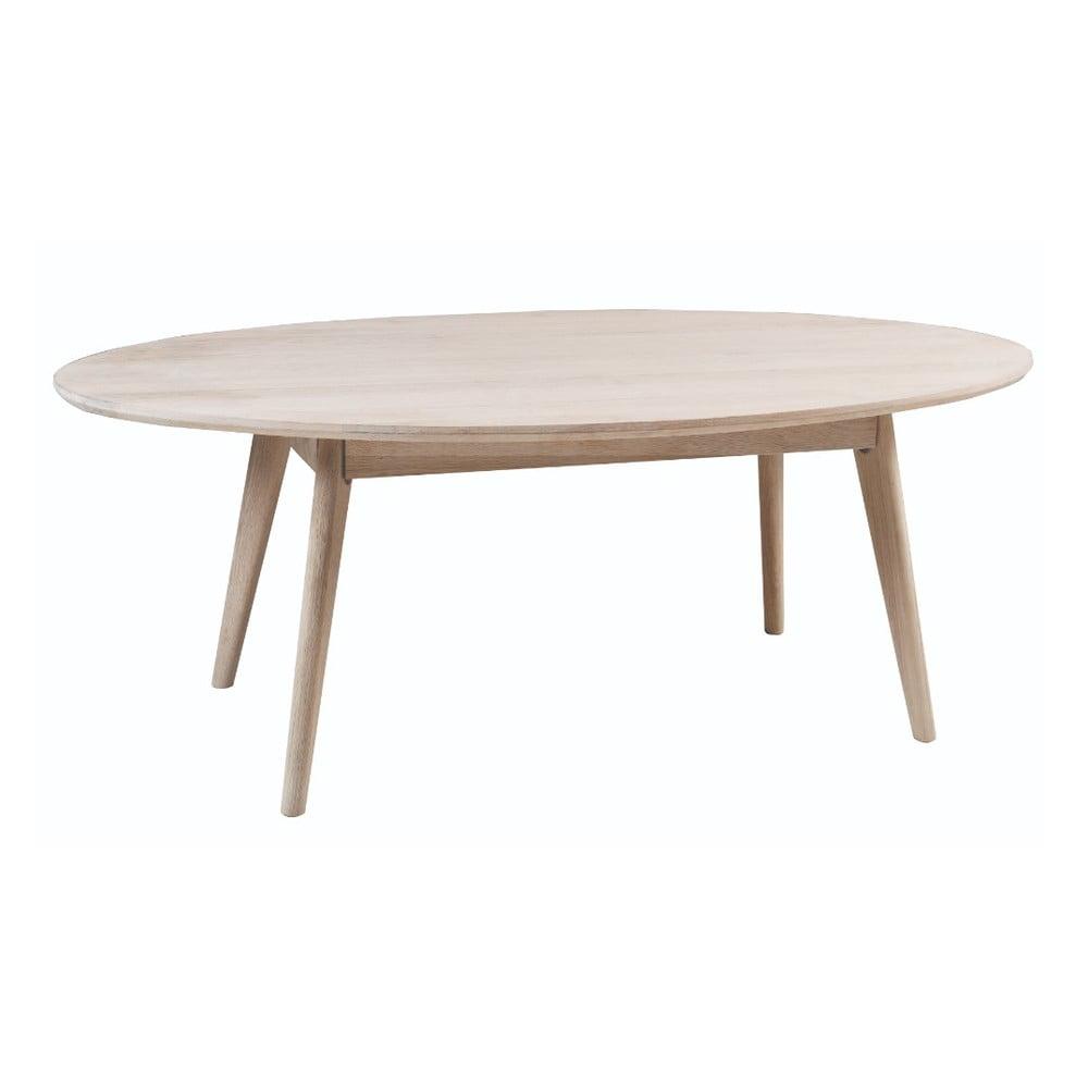 Konferenční stolek z běleného dubového dřeva Folke Yumi, 130x65m