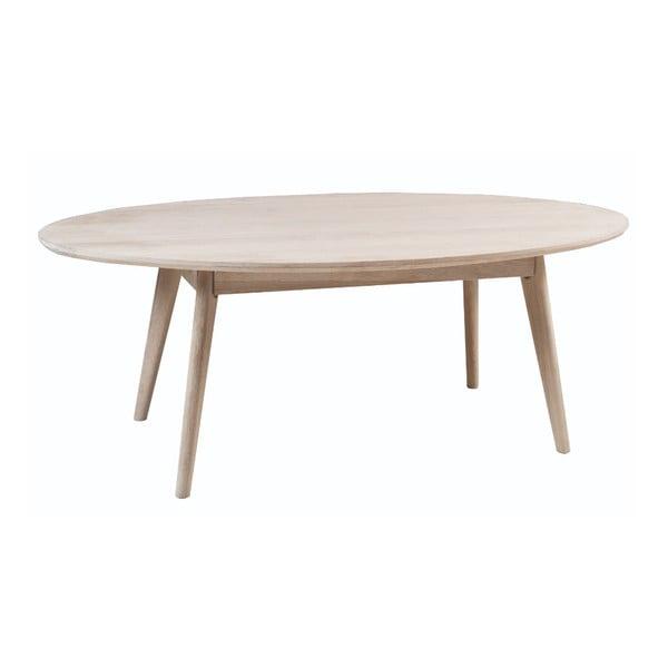 Yumi fehér dohányzóasztal tölgyfából, 130 x 65 cm - Folke