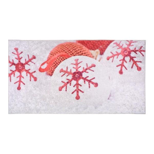 Covor Vitaus Winter Mood, 80 x 120 cm, roșu-alb