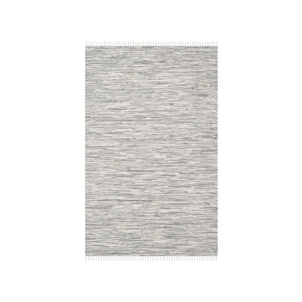Bavlněný koberec ve stříbrné barvě Safavieh Cabrera, 182x121cm