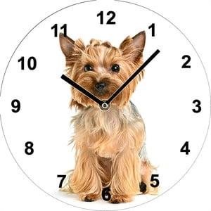 Skleněné hodiny Jorkšír, 34 cm