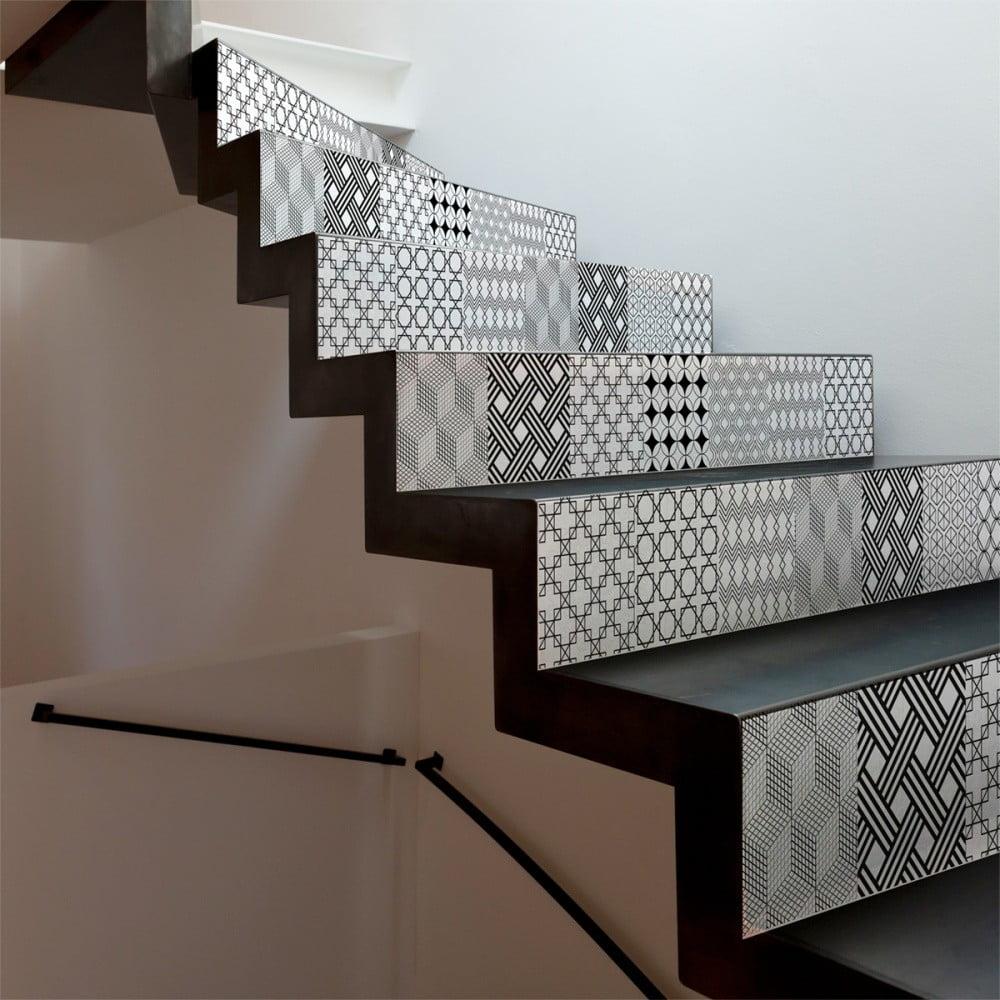Sada 2 samolepek na schody Ambiance Gerda, 15 x 105 cm
