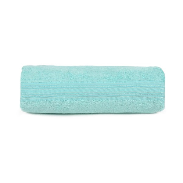 Světle tyrkysový ručník na ruce Stacy