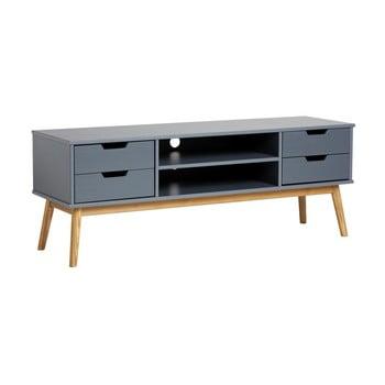 Comodă TV din lemn masiv de pin Marckeric Baku, gri de la Marckeric