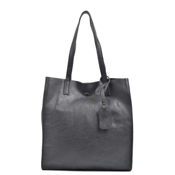 Čierna kožená kabelka Isabella Rhea Leslie