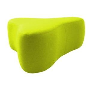 Světle zelený puf Softline Chat Felt Lime Punch, délka 90 cm