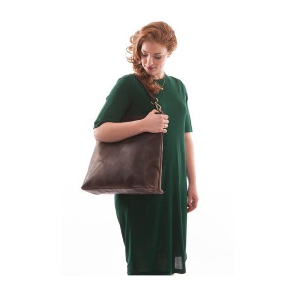 Kožená kabelka O My Bag The Janet, tmavě hnědá