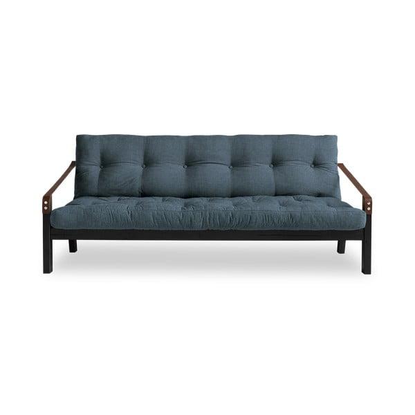 Poetry Black/Deep Blue sötétkék kinyitható kanapé - Karup Design