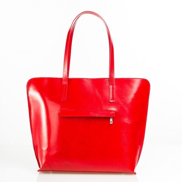 Kožená kabelka Aurel, červená