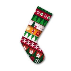 Dekorativní vánoční ponožka 1, 45cm