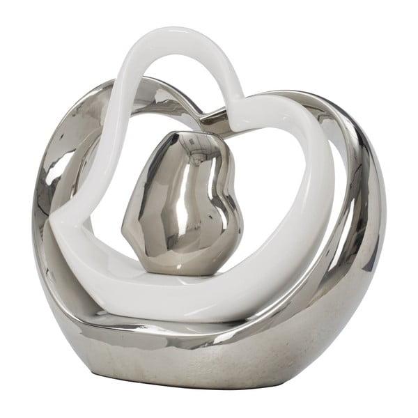 Bílostříbrná keramická váza Mauro Ferretti Tresor