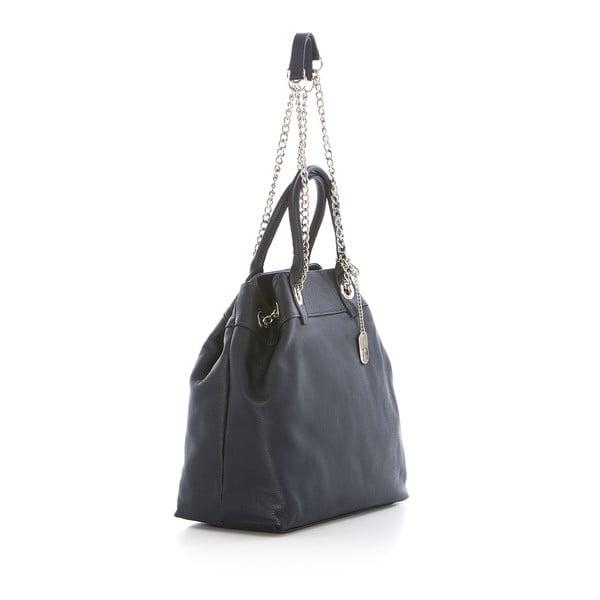 Černá kožená kabelka Federica Bass Apollo