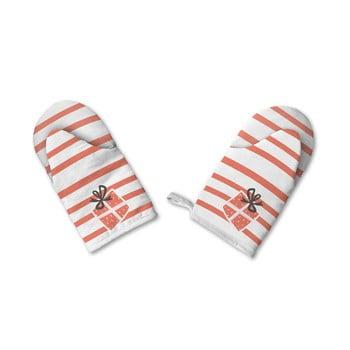 Set de 2 mănuși de bumbac de Crăciun Retro Kings Kings Santa imagine