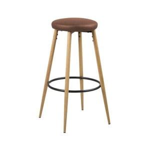 Sada 2 hnědých barových židlí Actona Hector Wood