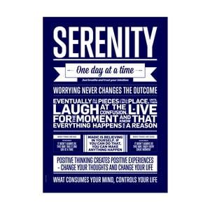 Autorský plakát Serenity Marine, A3