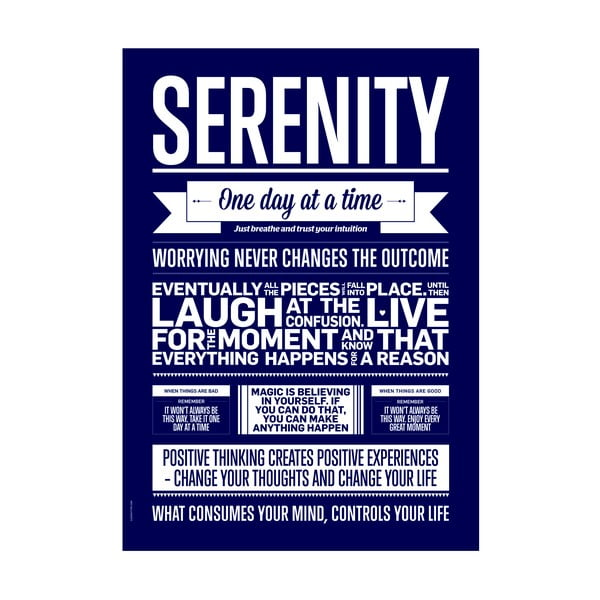 Autorský plakát Serenity, 50x70 cm