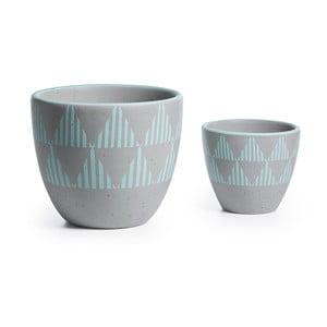 Sada 2 keramických květináčů La Forma Orb Stripe