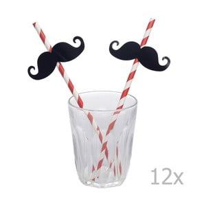 Sada 12 brček Rex London Moustache