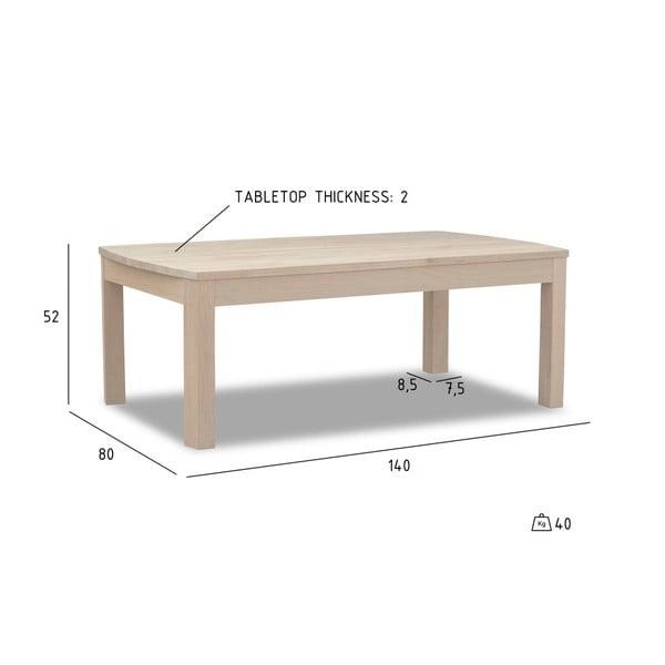 Dubový konferenční stolek Furnhouse Paris