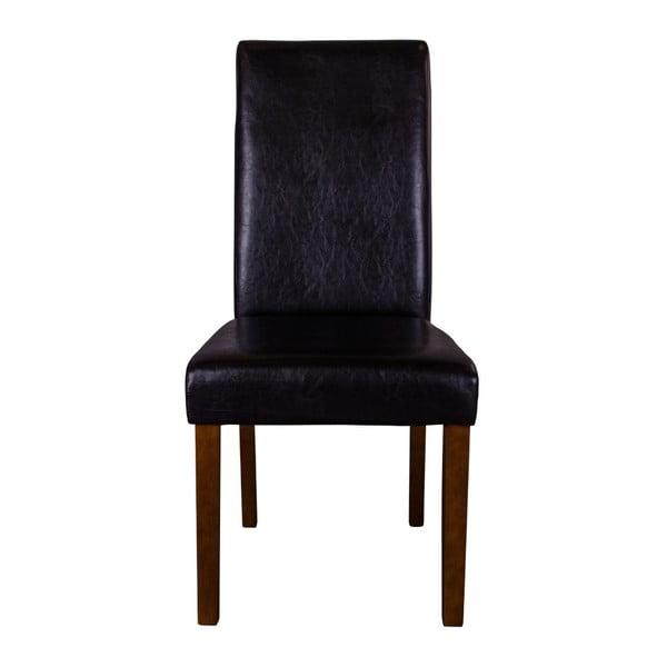 Sada 2 černých židlí s tmavými nohami House Nordic Mora