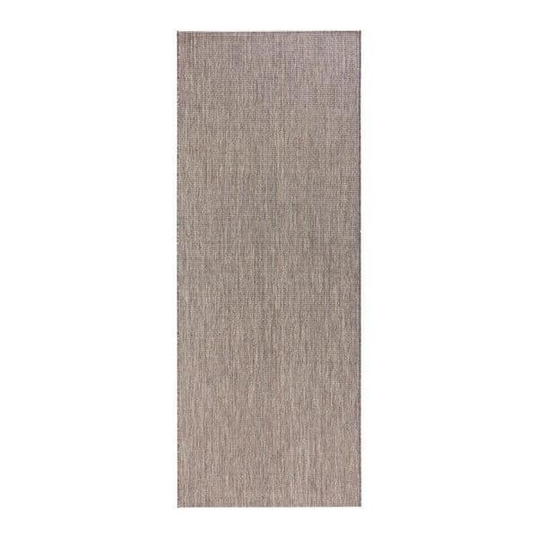 Sivý behúň vhodný aj do exteriéru Match, 80×150 cm