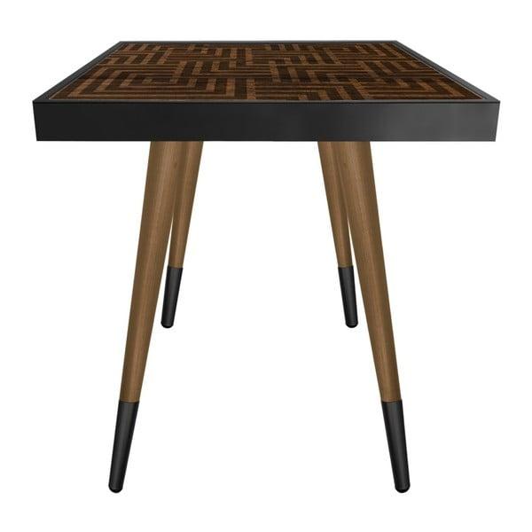 Príručný stolík Caresso Labyrinth Square, 45 × 45 cm