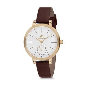 Dámské hodinky s hnědým koženým řemínkem Bigotti Milano Oceania