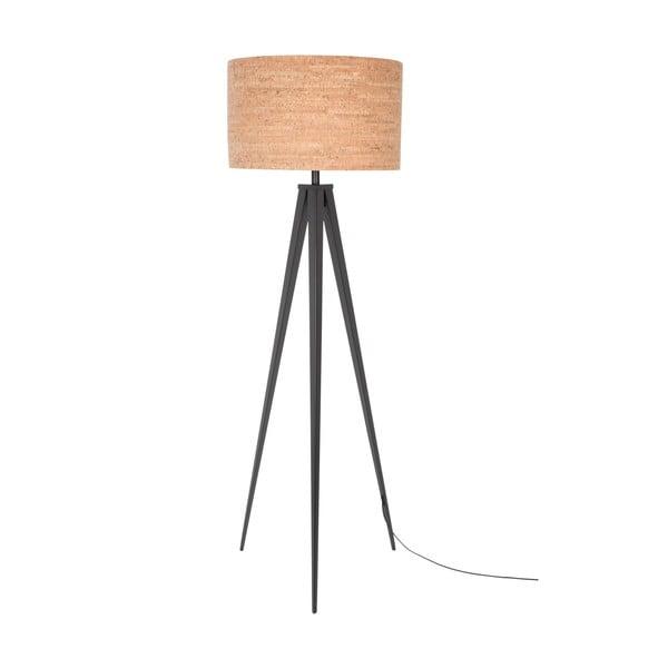Stojací lampa Tripod Cork, černá