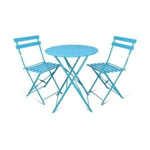 Sada 2 skládacích zahradních židlí a stolku Crido Consulting Aqua