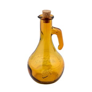 Žlutá láhev na ocet z recyklovaného skla Ego Dekor Di Vino, 500 ml
