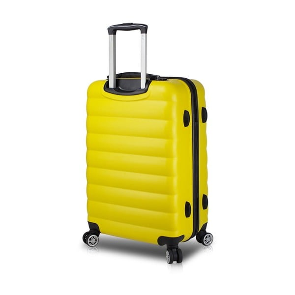 Žlutý cestovní kufr na kolečkách s USB portem My Valice COLORS RESSNO Pilot Suitcase