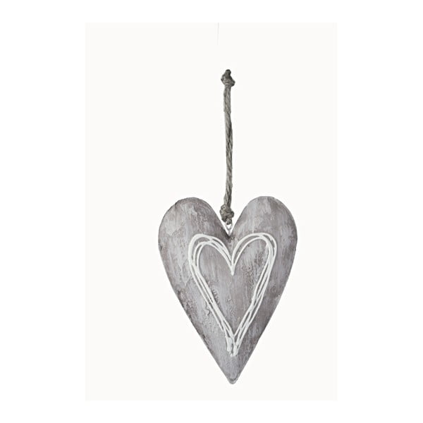 Wiszące serce dekoracyjne Ego Dekor, wys.14cm