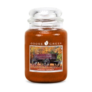 Vonná svíčka ve skleněné dóze Goose Creek Sklizeň sena, 0,68 kg