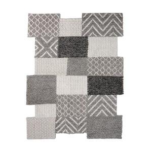 Šedý ručně tkaný koberec Flair Rugs Agra, 160x230cm