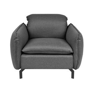 Tmavě šedé křeslo Cosmopolitan design Space