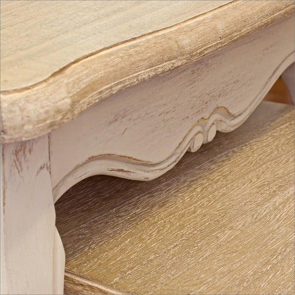 Sada 3 odkládacích stolků s konstrukcí ze dřeva paulownia Bizzotto Whiteness