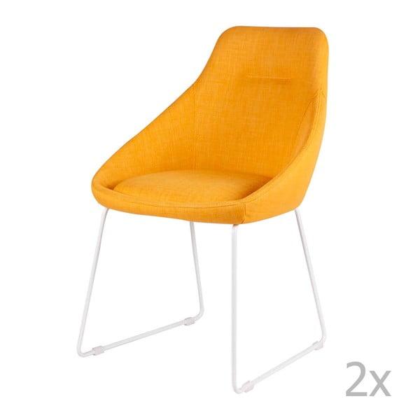 Sada 2 žlutých jídelních židlí sømcasa Alba