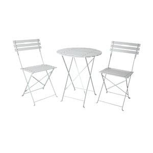 Zahradní posezení (stolek, 2 židle), bílé