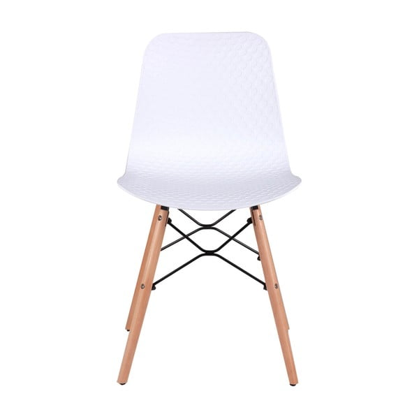 Sada 4 bílých jídelních židlí sømcasa Tina