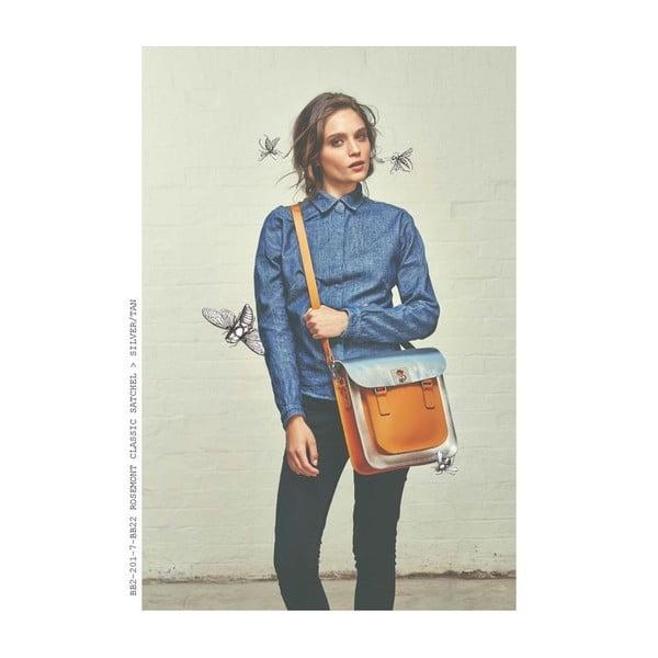 Kožená kabelka Rosemont Red/Chestnut XL