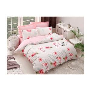 Lenjerie din bumbac pentru pat de o persoană Puresso Cassie, 140 x 200 cm