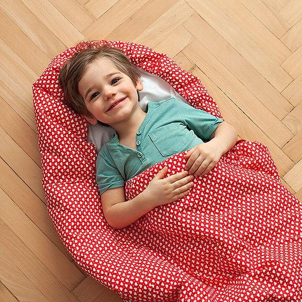 Dětský spací pytel Bartex Design Srdíčka, 70x165cm